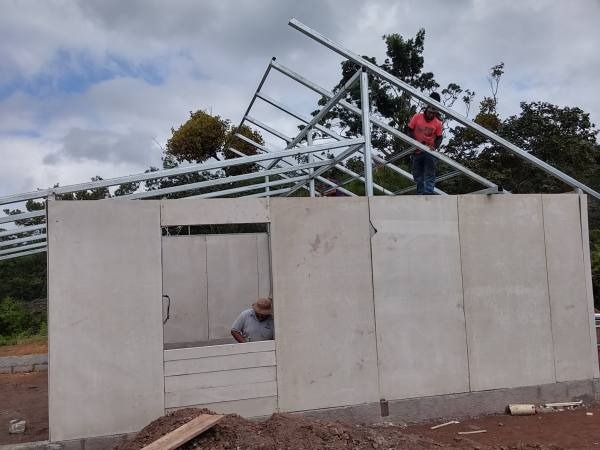 exterior walls and roof structure